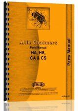 Allis Chalmers Ca Angle Dozer 4 Hd 16 Crawler Parts Manual Catalog Attachment