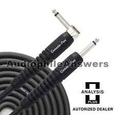 Analysis Plus Genesis Pure BLACK Instrument Cable Straight to 90 Plug 30ft