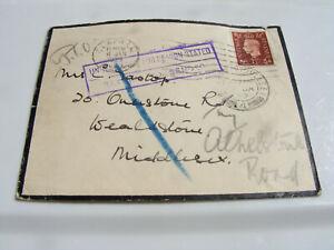 WW2 Black Edge Mourning Envelope Undelivered Return Sender Reason Stated( Eastop