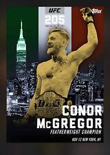 Conor McGregor - Topps UFC 2016 Knockout Digital UFC 205 NYC Award (90) Made