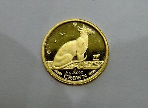 Isle of Man - 1992 - 1/25 oz. Fine Gold Crown - Siamese Cat