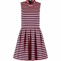 SUPERDRY Neon Pink and Black Striped Skater Dress rrp £54.99 - size Small