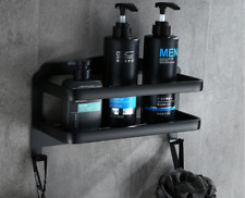 Shower Caddy - Basket for Shower Bath Organizer for Shower Space Aluminum Black