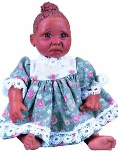 ABC Punkin Afro African American Brown Black Dark New Resin Baby Girl Doll