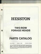 HESSTON TWO-ROW FORAGE HEADS PARTS CATALOG