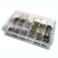 144 Pcs Watch Stem + Crown Parts Assortment Spare Parts Box Set