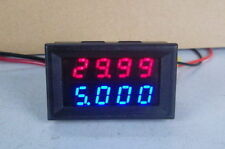 0-200v 10A DC Digital Voltmeter Ammeter LED Amp Volt Meter in Shunt 12v 24v CAR