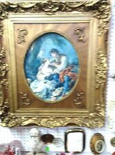 Painting Gold Jesso and wood frame - V009