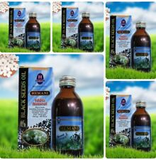 5 x Hemani Black Seed Cumin Nigella Sativa Oil Pure Natural Kolanji Oil  125ml