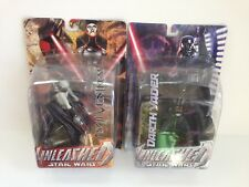 Star Wars Unleashed Asajj Ventress & Darth Vader Action figure Sith LOT MIB New