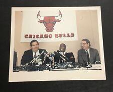 Michael Jordan Original 1988 Press Wire Photo Chicago Bulls Jerry Krause VTG