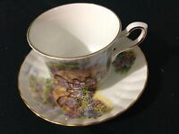 ROYAL STAFFORD  BONE CHINA CUP & SAUCER COUNTRY HOUSE FLOWER GARDEN BIRDS