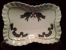 17 Vintage Adderley China Retangular Trinket Dish Nova Scotia Tartan Pattern