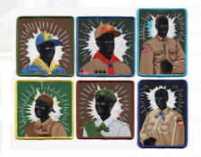 KERRY JAMES MARSHALL Complete Set of 6 Scout Series Embroidered Patches NEW