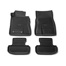 Genuine Ford Mustang  Floor Liner - All-Weather Tray Style, 4-Piece - Black