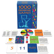 1000 Drinking Game Set: Card Dice Quiz Tongue Twisters College Fun Adult Party
