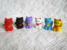 Maneki Welcome Cat Eraser Puzzles from Japan by iwako Set of 6- 20% off 2+ sets