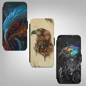 Eagle Bird WALLET FLIP PHONE CASE COVER for IPHONE SAMSUNG HUAWEI