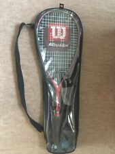 Squash Raqueta Wilson De Grafito De Titanio Con Estuche Y 2 bolas
