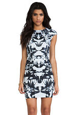 McQ by ALEXANDER MCQUEEN Print Body-Con Cap Sleeve Dress LARGE NWT $480