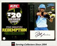 2012-13 T20 Big Bash League Cricket Star Signature Card SS4 Phil Hughes