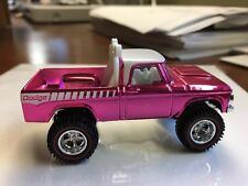 Hot Wheels '70 DODGE POWER WAGON 1970 4x4 Real Riders PINK Party Convention RLC