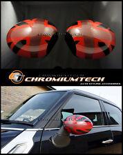 Mini R55 R56 R57 R58 R60 R61 Rojo Espejo de Unión Jack tapa cubre para Pliegue Manual