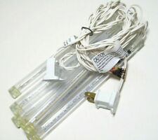 Cool White Color LED Cascading Create Motion Icicles 6 CT White Wire New