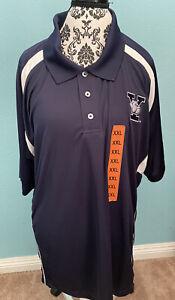 Yale University Bulldogs Men Polo Shirt Size 2XL Navy Blue by Champion Elite