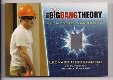 Big Bang Theory Season 5 Costume Card M2 Leonard Hofstadter