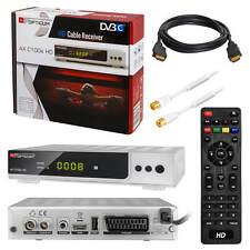 Kabel TV Receiver Kabelreceiver DVB-C HDTV 100 USB SCART + HDMI Antennenkabel 2m