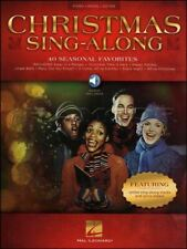 Christmas Sing Along Piano Vocal Guitar Sheet Music Book/Audio SAME DAY DISPATCH