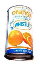 Vintage Whistle Orange Drink Soda Pop Top Can A1+ Pepsi Flat Cone Sign Coke Ofr