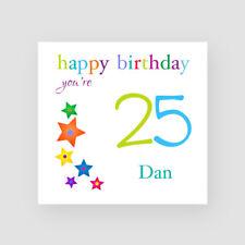 Personalised Handmade 25th Birthday Card - For Him, Son, Grandson, Nephew, Stars