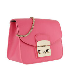 Woman Bag Furla Metropolis Mini Crossbody Pink Leather Rosa Quarzo C 914337