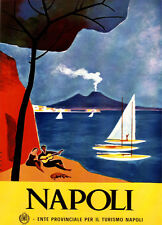 "16x20""poster on CANVAS.Interior design.Room art.Napoli.Italy travel.Guitar.7407"
