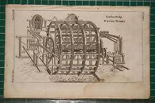1764 ANTIQUE PRINT ~ LONDON BRIDGE WATER WORKS