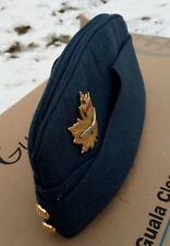 Canadian Air Force Garrison, Wedge, Flight Cap Sz 7-1/8 with Genuine Brass Badge
