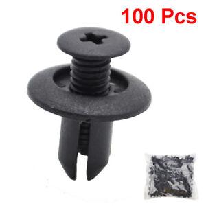 8mm Door Trunk Rack Bumper Screw Threaded Nail Plastic Clip Clasp Car Fastener