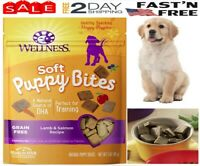 Wellness Natural Puppy Training Treats | Soft Puppy Bites Lamb & Salmon For Dogs