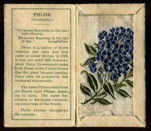 Kensitas Woven Silk Flowers, 1934, Small, 1st Series, Folder Type C, PHLOX, #43