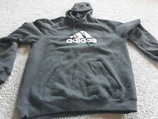 adidas hoodie Sweater Embroidered Logo Pullover Size M Black X Condition