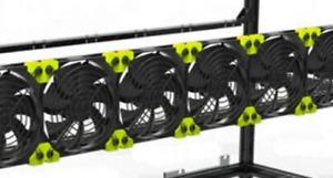 Mining Rig Exhaust Fan Bracket for 120mm fans
