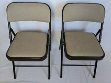 Deluxe Comfort Padded Fabric Folding Chair in Black
