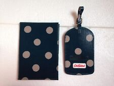 CATH KIDSTON PASSPORT HOLDER AND LUGGAGE TAG-BUTTON SPOT RICH GREEN