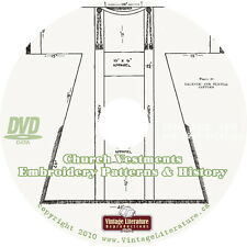 Church Vestments {Eighteen Vintage History & Embroidery Pattern Books} on DVD