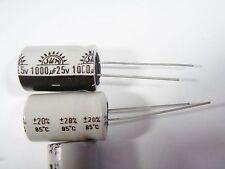 2x 1000uF 25V 85°C ELKO radial #3-832