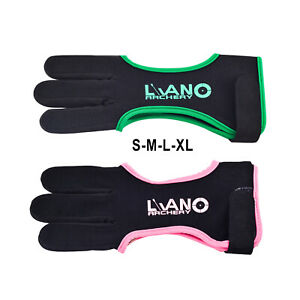 Archery Glove for Recurve & Compound Bow 3 Finger Guard for Women Men Youth