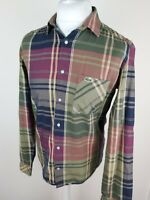Mens Lacoste Live Check Plaid Tartan Shirt Green Medium 40 Chest