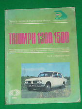 EARLY TRIUMPH 1300 1500 (DOLOMITE) HAYNES HANDBOOK MANUAL 1973 - CHALMERS HUNT